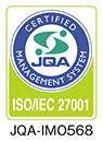 JQA-IM0568 情報セキュリティー(ISO/IEC 27001)